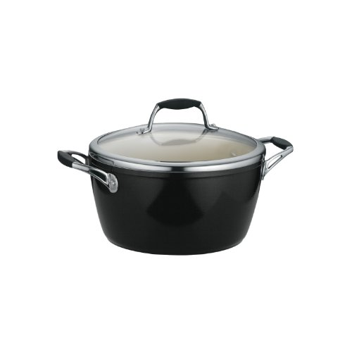 Tramontina 80110/026DS Gourmet Ceramica Deluxe Covered Dutch Oven, PFOA- PTFE- Lead and...