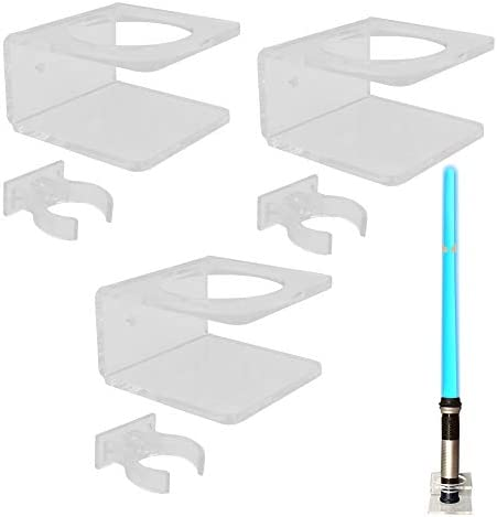 YYST Clear Light Saber Wall Mount Wall Rack Wall Holder 3 Pack product image