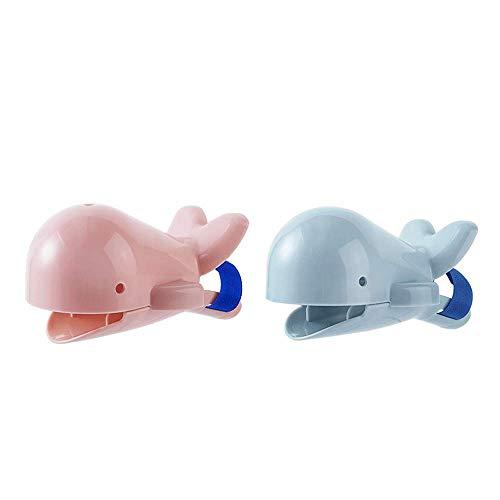 Extensor de grifo de ballena de silicona para niños, 2 unidades