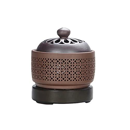 Quemador De Incienso Eléctrico Incensario De Cerámica De Porcelana Con Calentador Esencial Con Ajuste Regular De Temperatura Adecuado Para El Hogar,SquareFurnace