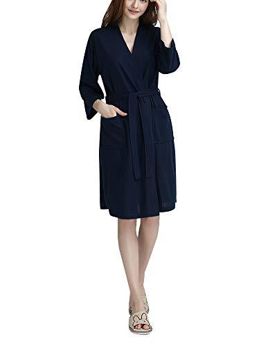 DianShaoA Albornoz para Hombre Y Mujer Kimono Batas Cortos Lencería De Aspecto Brillante SPA Hotel Sauna Robe Hembra Armada 3XL