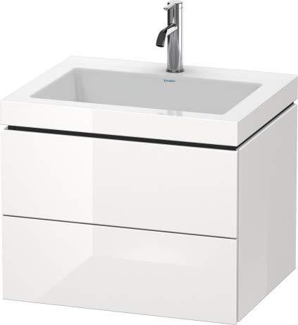 Duravit Duravit Waschtischunterbau L-CUBE mit Waschtisch Vero Air, 500 x 600 x 480 mm 3 Hahnlöcher graphit matt