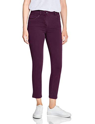 CECIL Damen 372403 Toronto Fit Slim Jeans, Rosa (deep berry 11438), W32/L28 (Herstellergröße:32)