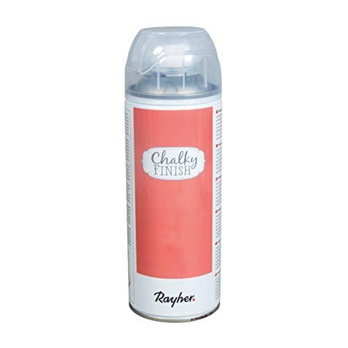 Rayher 34371266 Chalky Finish Farbspray, lachsrosa, Spraydose 400 ml, Kreidefarbe auf Wasserbasis, ultra-matt, schnelltrocknend, wetterbeständig, für Shabby-Chic-, Vintage- und Landhaus-Stil-Looks