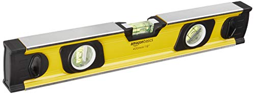 AmazonBasics Heavy-Duty Aluminum Alloy Magnetic Spirit Level - 16-Inch
