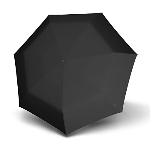 Knirps Manual Piccolo Taschenschirm 20 cm, Schwarz Black, ca. 19,5 cm lang, Durchmesser ca. 6 cm