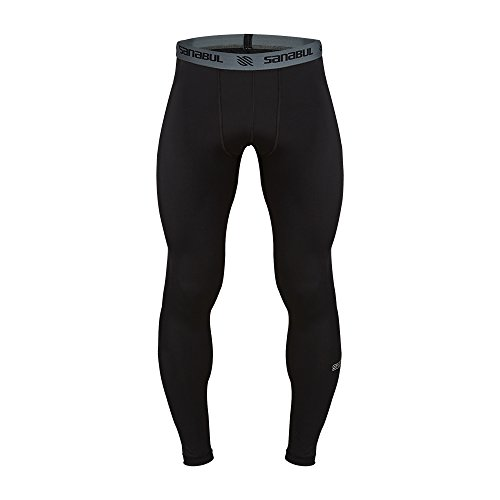 Sanabul Essential Mens Tights (Large, Black)