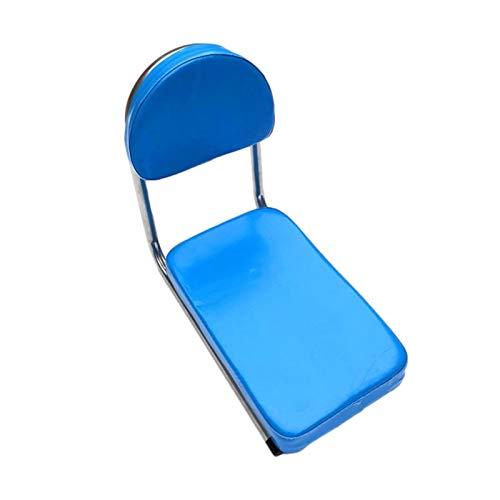 xiaoxiaoya Fahrradsitz, Fahrrad Rücksitz MTB PU-Leder Weiche Kissen Hinten Racksitz Kindersitz Mit Rückenlehne. Weiche Dicke Schwammrückenlehne Sicher Für Kinder Oder Erwachsene
