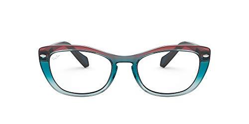 Ray-Ban 0RX5366 Monturas de gafas, Gradient Blue/Red/Azure, 54 para Mujer