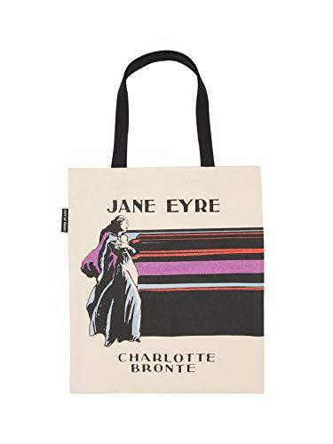 Bolsa de transporte de lona com tema literário e livro para amantes de livros, leitores e bibliófilos, Jane Eyre, O/S