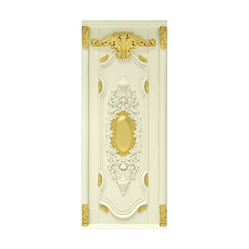 tianhao Póster de Pasta artística con patrón Dorado para decoración de Dormitorio, Pegatina de Puerta DIY a la Moda, 77 * 200 cm