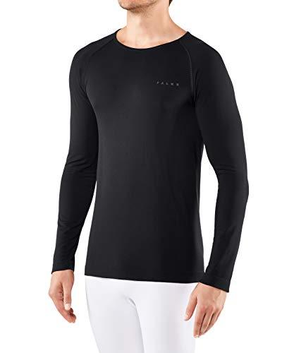 FALKE Warm, Couche De Base Coupe Large Manches Longues Homme, Sous-Vêtement Thermique Chaud, Noir (Black 3000), S, 1 Pièce