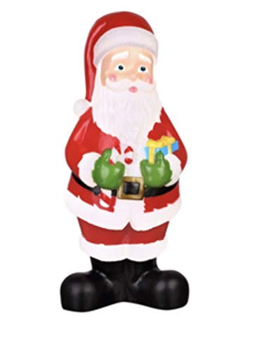 """Holiday Living 24"""" Lighted Christmas Santa Claus Blow Mold Plastic Yard Decoration Double Light Cord"""