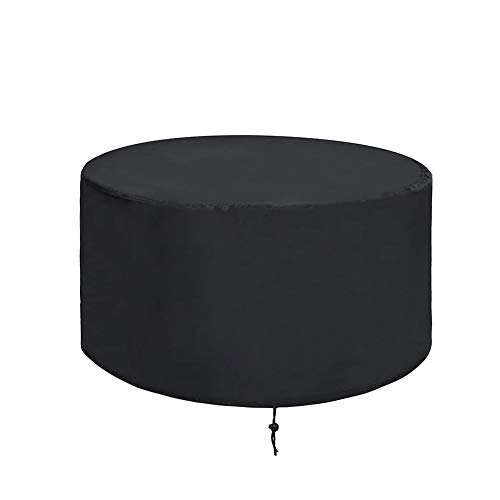 ValueHall Fire Pit Cover Round Patio Firepit Bowl Cover Garden Furniture Cover Heavy Duty 420D Waterproof Garden Table Cover Outdoor Barbecue Grill Cover V7084A (92 x 51cm)