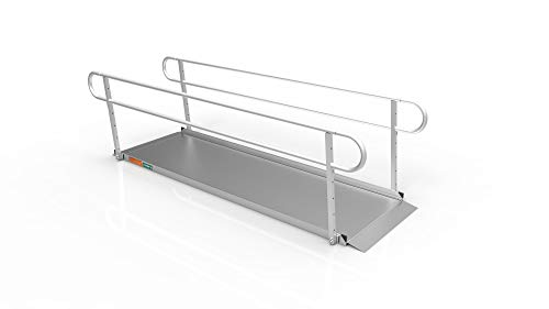 EZ-ACCESS GATEWAY 3G Portable Ramp with Two-line Handrails, 10' Aids Equipment Mobility