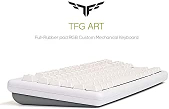HANSUNG TFG Art Full-Rubber pad RGB Custom Mechanical Keyboard, English/Korean Layout, Art Box Switch, Quick Swap, RGB LED Backlight, Customizing (Grey_Red Switch)