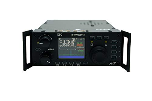 Xiegu G90 HF Radio 20W SSB/CW/AM/FM 0.5-30MHz, Plus 60 Meters with BridgeCom University Course and Built in Antenna Tuner