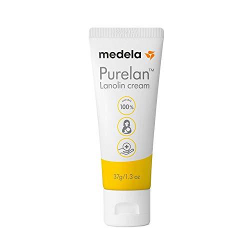 Crème d'allaitement à la lanoline Medela Purelan - mamelons douloureux, peaux sèches, 100% naturelle, hypoallergénique, 37g