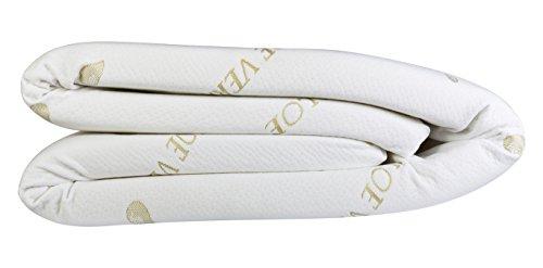 Best Sleep, Surmatelas Mousse mémoire de forme, Blanc, 140 x 190 cm, Epaisseur 4 cm