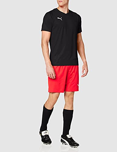 Puma Liga Core H Camiseta de Manga Corta, Hombre, Negro/Blanco Black White, M