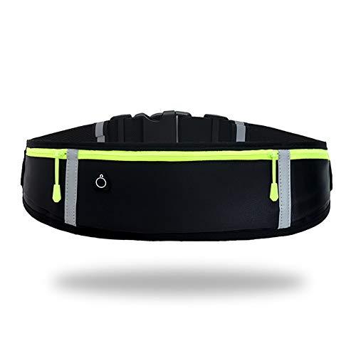GORWRICH Löparbälte med vattentätt justerbart elastiskt band, svettsäkert midjeväskor med stor kapacitet, perfekt för löpning och utomhusaktiviteter