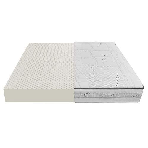 Baldiflex Materasso Lattice Singolo 80x190 cm Alto 20 cm con 7 Zone a Portanza Differenziata e Fodera in Tessuto Silver Care Sfoderabile Antiacaro e Traspirante