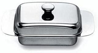 stainless butter dish & lid by alessi