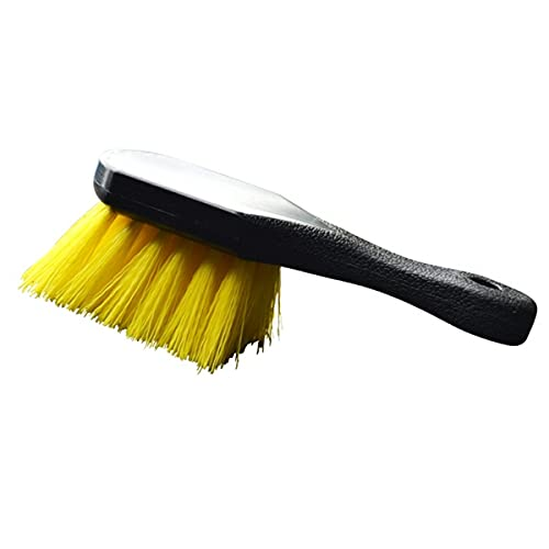 Nihlsen Cepillo de neumáticos de coche Alfombra Cubo de rueda Cepillo de lavado de coche multiusos Cepillo de cerdas de nylon herramienta de limpieza de neumáticos de coche