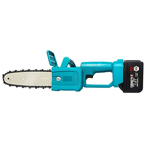 QILIN 8-inch Cordless Electric Chain Saw, Small Household Battery-Powered Electric Saw, Portable One-Hand Electric Saw, Used for Pruning Branches and Cutting Wood