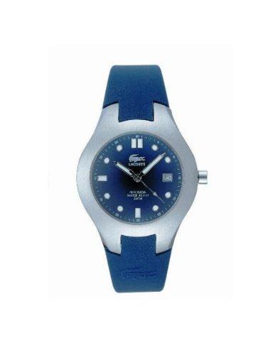 Lacoste 2500G 09 - Reloj analógico de caballero de cuarzo con correa de silicona azul