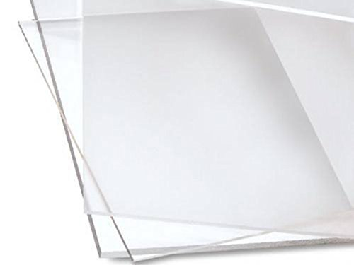 Cast Acrylic Sheet - 24 x 24 - Clear - 3mm Thick - Used in Art Installations, Models, Display & Signage, Windows, Aquariums, Trophies, Picture Frames, Furniture - Transparent & Easy to Fabricate