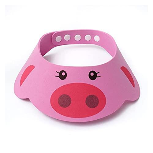 YSJJOSX Gorro Ducha Bebe Encantadora Ajustable bebé Sombrero para niños champú champú baño Ducha Tapa Lavar Capas de Visor de Pelo para Cuidado del bebé (Color : Pink)