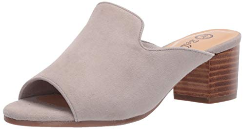 Bella Vita Women's Fashion Casual Heeled Sandal, Cloud Suede Leather, 12 Narrow