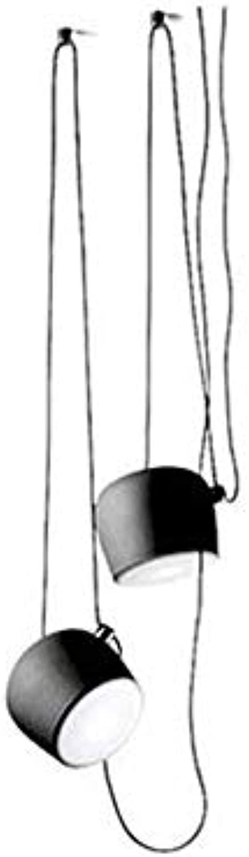 L.HPT Moderne DIY Kronleuchter, Nordic Hngelampe für Schlafzimmer Wohnzimmer Insel Küche Esstisch Büro Bar Loft Deckenleuchten, schwarz,schwarz,2heads