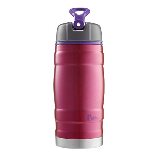 bubba Hero Sport Kids Insulated Stainless Steel Water Bottle with Flip-Up Straw, 12 oz., Pink