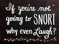 あなたが鼻を鳴らすつもりがないのなら、なぜ笑うのか。 ブリキサインヴィンテージ鉄塗装メタルプレートノベルティ装飾クラブカフェバー。