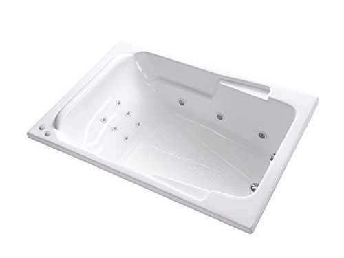 Carver Tubs - SR7148- Heated 12 Jet Whirlpool - 71'L x 48'W x 19.5'H - White Drop In Two Person...