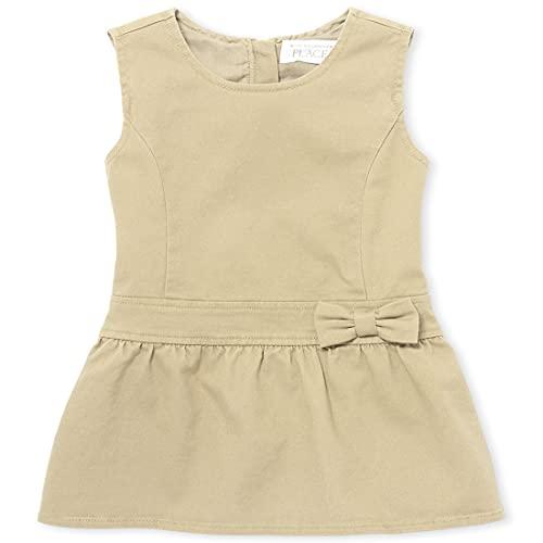 The Children's Place girls Uniform Jumper Dress, Sandy, 5T US