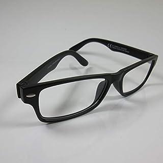 CEPEWA eenvoudige leesbril +3,0 zwart 2 dames & heren leeshulp kant-en-klaar bril