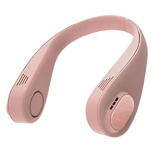 FreshWater Ventilador de cuello colgante recargable mini USB ventilador personal auriculares diseño 360 grados refrigeración mini refrigerador de aire para uso interior al aire libre