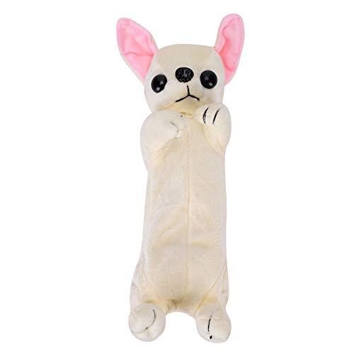 Federmäppchen Cartoon Lovely Welpen Bleistifte Tasche Weich Plüsch 3D Hund Schreibwaren Beutel Kosmetiktasche Schule große Kapazität Stift-tasche für Mädchen, Kinder, Junge,Studenten