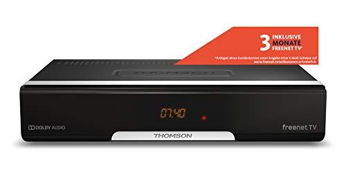 THOMSON THT740 DVB-T2 Receiver für digitales Antennenfernsehen mit freenet TV (FullHD, HDMI, USB, SCART, nur für DE geeignet, 3 Jahre Garantie), schwarz