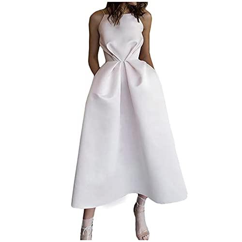 LOSVIP Damenmode Sling trägerlos rückenfrei Hochzeit Brautkleid Bankettkleid