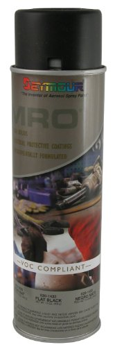 Seymour 620-1433 Industrial MRO High Solids Spray Paint, Flat Black