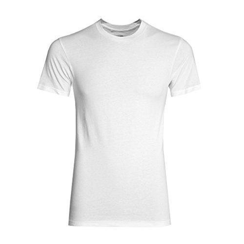 Watson's Men's 100% Cotton Underwear - 2 Pack Crew Undershirt, White, X-Large