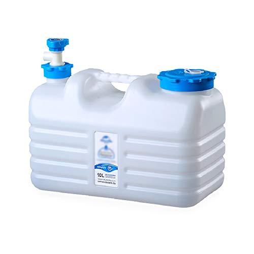 MNSSRN Cubo de Agua de Agua de Agua al Aire Libre Cubo de Almacenamiento de Agua, Grado alimenticio PE con Grifo, Tanque de Almacenamiento de Agua de plástico montado en vehículo,10L