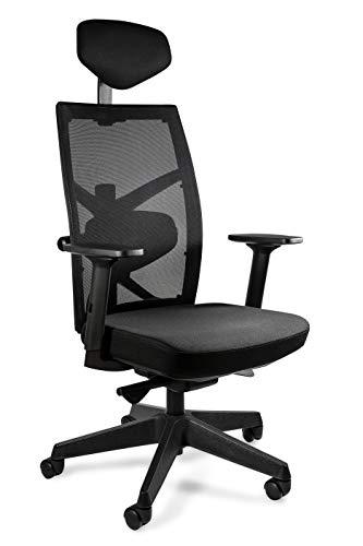 UNIQUE DESIGN FOR PEOPLE - Tune - Silla ergonomica de Oficina giratoria Ajustable Silla para Escritorio Malla Negra/Cocoa