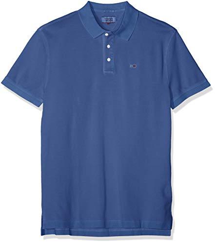 Hilfiger Denim Herren TJM Essential Garment DYE Polo Poloshirt, Blau (Limoges 434), Small (Herstellergröße: S)