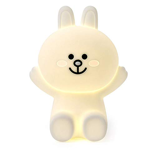HELA Lovely LED Silicone Bunny Miffy Bear Brown Light Decorative Light babyroom lamp (Bunny Cony)