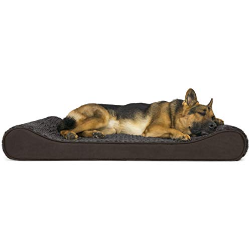 Furhaven Pet Dog Bed | Orthopedic Ultra Plush Faux Fur Ergonomic Luxe Lounger Cradle Mattress Contour Pet Bed w/ Removable Cover for Dogs & Cats, Chocolate, Jumbo - 30% Beds Cat Custom customers Dog Food Furniture It Keep Pet Profile Promotion Savings Stores Supplies Top V4
